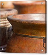 Terracotta Mexican Pottery Acrylic Print