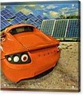 Tesla Car Acrylic Print