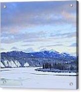Teslin River At Sunset, Teslin, Yukon Acrylic Print