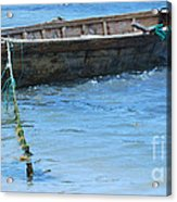 Tethered Boat......... Acrylic Print