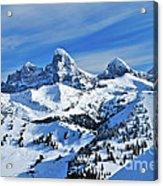 Teton Winter Acrylic Print