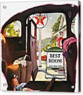 Texaco Advertisement, 1938 Acrylic Print