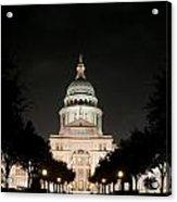 Texas Capitol Building At Night - Horz Acrylic Print