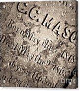 Tcm - C.c. Mason Grave Acrylic Print