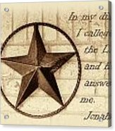 Texas Iconic Star Acrylic Print by Linda Phelps