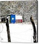 Texas Snow Acrylic Print