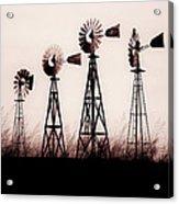 Texas Windmills Acrylic Print by Tamyra Ayles