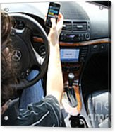 Texting And Driving Acrylic Print