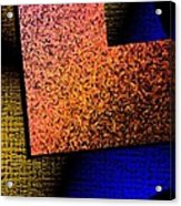 Textured Abstract Geometry Acrylic Print by Mario Perez