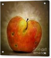 Textured Apple Acrylic Print by Bernard Jaubert