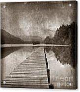Textured Lake Acrylic Print by Bernard Jaubert