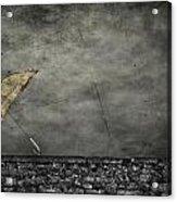 Th E Red Umbrella Acrylic Print by Empty Wall