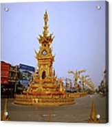 Thai Clock Tower  Acrylic Print