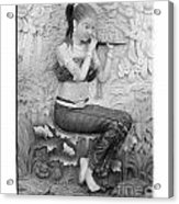 Thai Style Bas-relief Decorated On  Wall  Acrylic Print