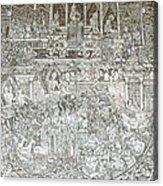 Thai Writing Patterns Acrylic Print