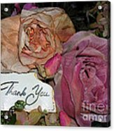 Thank You  Acrylic Print