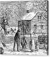 Thanksgiving, 1882 Acrylic Print