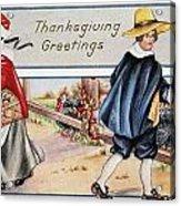 Thanksgiving, C1900 Acrylic Print
