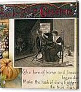 Thanksgiving Card, 1909 Acrylic Print