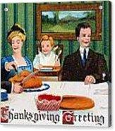 Thanksgiving Card, 1910 Acrylic Print