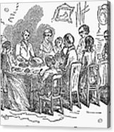 Thanksgiving Dinner, 1850 Acrylic Print
