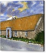 Thatched House Sandy Lane Rush County Dublin Ireland. Acrylic Print