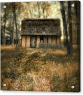 Thatched Roof Cottage In The Woods Acrylic Print