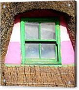 Thatched Roof Cottage Window Acrylic Print