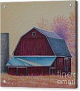 The 1918 Barn Acrylic Print by Elizabeth Dobbs