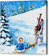 The Aerial Skier - 1 Acrylic Print