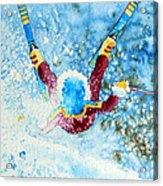The Aerial Skier - 14 Acrylic Print by Hanne Lore Koehler