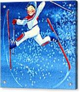 The Aerial Skier 16 Acrylic Print