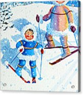 The Aerial Skier - 6 Acrylic Print