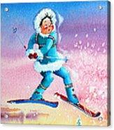 The Aerial Skier - 8 Acrylic Print