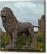 The Alnwick Lion Acrylic Print