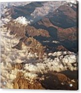 The Alps, Aerial Photograph Acrylic Print