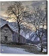 The Alps In Winter Acrylic Print