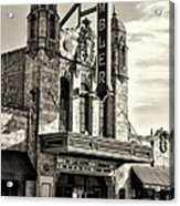 The Ambler Theater In Sepia Acrylic Print