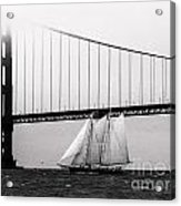 The America And The Golden Gate Acrylic Print by Patty Descalzi
