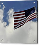 The American Flag Blowing In The Breeze Acrylic Print