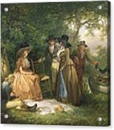The Angler's Repast  Acrylic Print by George Morland