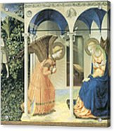 The Annunciation Acrylic Print by Fra Angelico