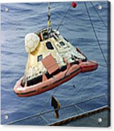 The Apollo 8 Capsule Being Hoisted Acrylic Print