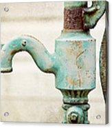 The Aqua Pump Acrylic Print