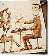 The Artist - Coffee Art Acrylic Print