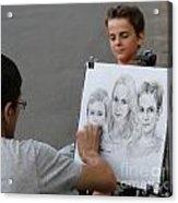 The Artist At Bethesda Fountain Acrylic Print
