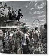 The Attack Of The Zombie Tourists Acrylic Print