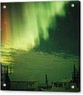 The Aurora Borealis Shimmers Acrylic Print
