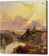 The Avon Gorge At Sunset  Acrylic Print by Francis Danby