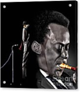 The Back And The Affront Of Miles Davis Acrylic Print